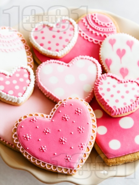 Ванилови сладки за Свети Валентин - снимка на рецептата